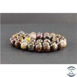 Perles en pietersite de Chine - Rondes/10mm - Grade AB