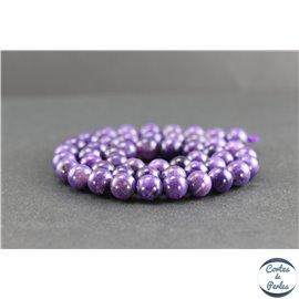Perles en charoïte de Russie - Rondes/8mm - Grade AAA