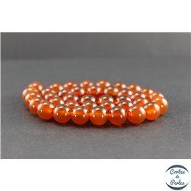 Perles en cornaline du Yémen - Rondes/10mm - Grade AA