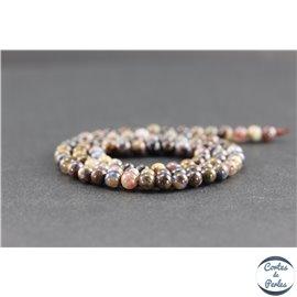 Perles en pietersite de Chine - Rondes/4mm - Grade AB