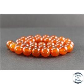 Perles en cornaline du Yémen - Rondes/12mm - Grade AA