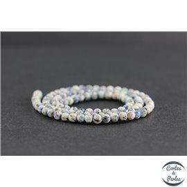 Perles en jaspe K2 du Pakistan - Rondes/4mm - Grade AB
