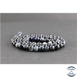 Perles en oeil de faucon - Rondes/6mm - Grade A