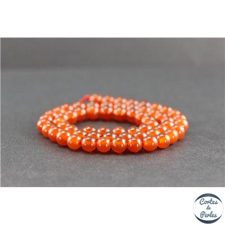 Perles en cornaline du Yémen - Rondes/6mm - Grade AA