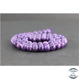 Perles en charoïte de Russie - Rondes/6mm - Grade AAAA