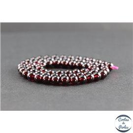 Perles en grenat du Brésil - Rondes/6mm - Grade AA