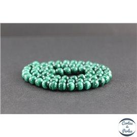 Perles en malachite du Congo - Rondes/6mm - Grade AA