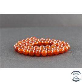 Perles en cornaline du Yémen - Rondes/8mm - Grade AA