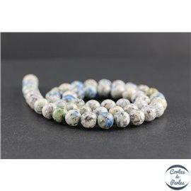 Perles en jaspe K2 du Pakistan - Rondes/8mm - Grade AB