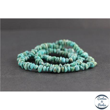 Perles en turquoise HuBei - Chips/6mm - Grade AB