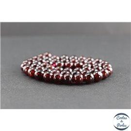 Perles en grenat du Brésil - Rondes/8mm - Grade AA