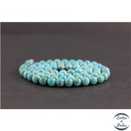 Perles en turquoise HuBei - Rondes/5mm - Grade AB