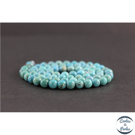 Perles en turquoise HuBei - Rondes/6mm - Grade AB