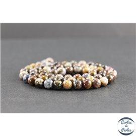 Perles en pietersite du Brésil - Rondes/6mm - Grade AB