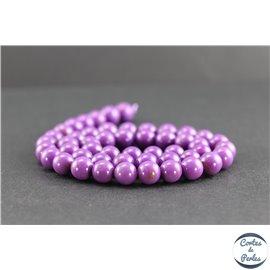 Perles en phosphosidérite du Chili - Rondes/8mm - Grade AB