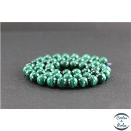 Perles en malachite du Congo - Rondes/8mm - Grade AA