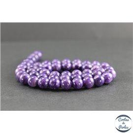 Perles en charoïte de Russie - Rondes/8mm - Grade AAAA