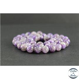Perles en charoïte de Russie light - Rondes/8 mm - Grade AB