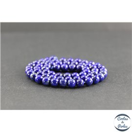 Perles en lapis lazuli d'Afghanistan - Rondes/6mm - Grade A