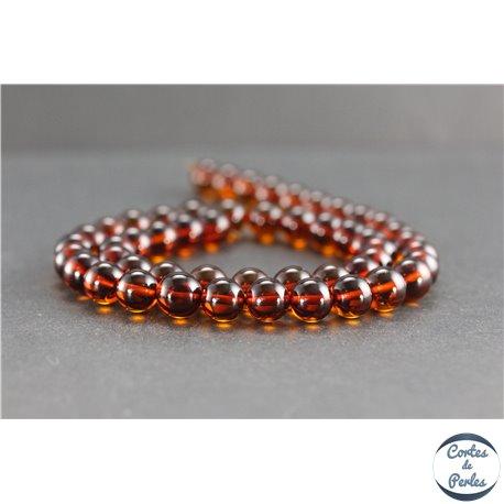 Perles en ambre cognac de la Baltique - Rondes/8mm - Grade A