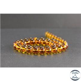 Perles en ambre miel de la Baltique - Rondes/8mm - Grade A