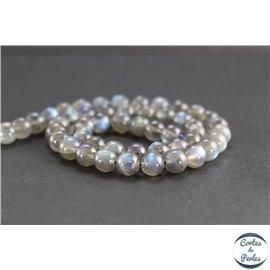 Perles en labradorite de Madagascar - Rondes/8mm - Grade AAA