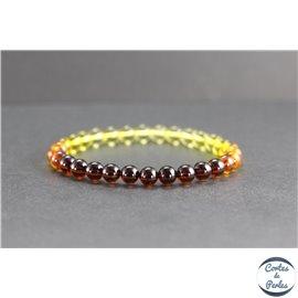 Bracelet de perles en ambre de la Baltique avec dégradé - Rondes/6.5mm - Grade A