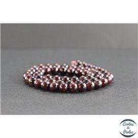 Perles en grenat du Brésil - Rondes/7mm - Grade AB