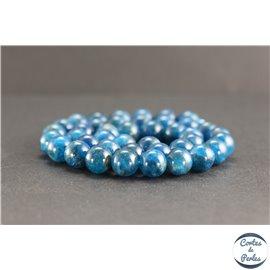 Perles en apatite de Madagascar - Rondes/10mm - Grade AA