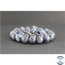 Perles en apatite grise de Madagascar - Rondes/12mm - Grade AB