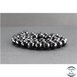 Perles facettées en tourmaline noire de Madagascar - Rondes/10mm - Grade AB