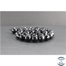 Perles facettées en tourmaline noire de Madagascar - Rondes/12mm - Grade AB