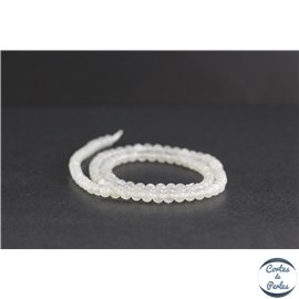 Perles en pierre de Lune opalescente du Sri Lanka - Rondes/4 mm - Grade AB