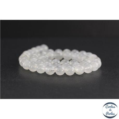 Perles en pierre de Lune arc en ciel du Sri Lanka - Rondes/8 mm - Grade AB