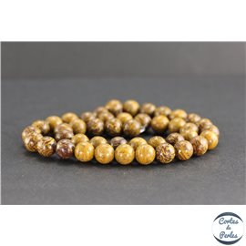 Perles en jaspe éléphant - Rondes/8mm