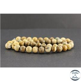 Perles en jaspe paysage - Rondes/8mm