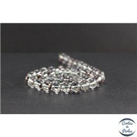 Perles en quartz lodolite - Rondes/8mm - Grade A