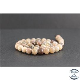 Perles en pierre de Soleil - Rondes/8mm - Grade AB