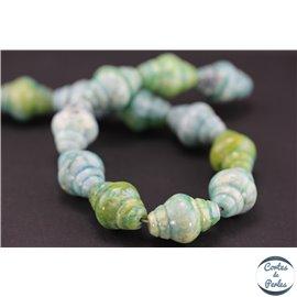Perles semi précieuses en Sugilite - Toupie/22 mm - Vert