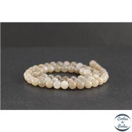 Perles en pierre de Soleil grise - Rondes/6mm - Grade AB