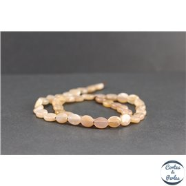 Perles en pierre de Soleil - Ovales/10mm - Grade A