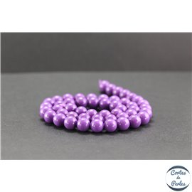 Perles en phosphosidérite du Chili - Rondes/8mm - Grade AA