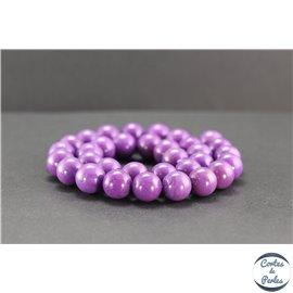 Perles en phosphosidérite du Chili - Rondes/12mm - Grade AB