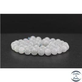 Perles en sélénite - Rondes/8mm - Grade A