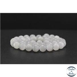 Perles en sélénite - Rondes/10mm - Grade A