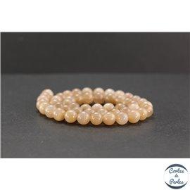 Perles en pierre du soleil - Rondes/8mm - Grade AA