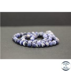 Perles en sodalite d'Afrique du Sud - Rondes/6mm - Grade A