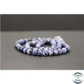 Perles en sodalite d'Afrique du Sud - Rondes/6mm - Grade AB+