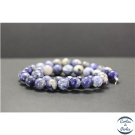 Perles en sodalite d'Afrique du Sud - Rondes/10mm - Grade A