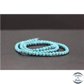 Perles en howlite turquoise - Rondes/4mm
